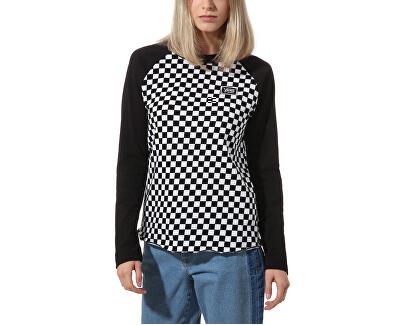 Dámske tričko Boom Boom Unity Ls Raglan Checkerboard / Black VN0A47XZP531