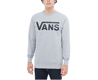 Pánska mikina Vans Class ic Crew Cement Heather / Black VN000YX0ADY1