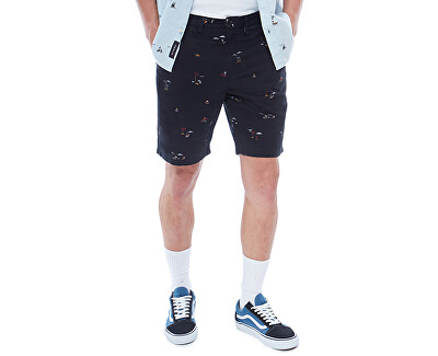 Pánske kraťasy Authentic Printed Short Black Tres Palmas VA3HBPPFPREG