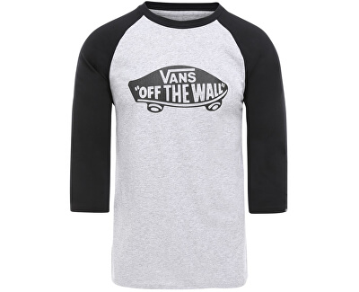 Pánske tričko Otw Raglan Athletic Heather/Black VN000XXMATJ1