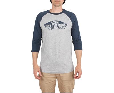 Pánske tričko Otw Raglan Athletic Heather/Dress Blues VN000XXMKOO1