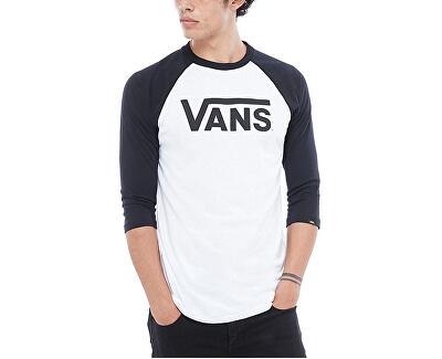 Pánske tričko Vans Classic Raglan White/Black VN0002QQYB21