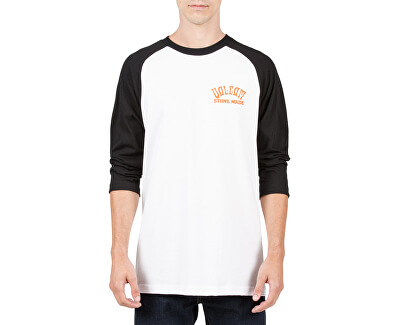 Volcom Pentru bărbați T-Shirt Wrecker 3/4 Raglan T A4321703-WHT