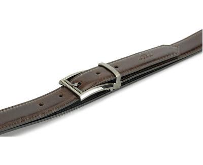 Kožený opasok 9504 tmavohnedý