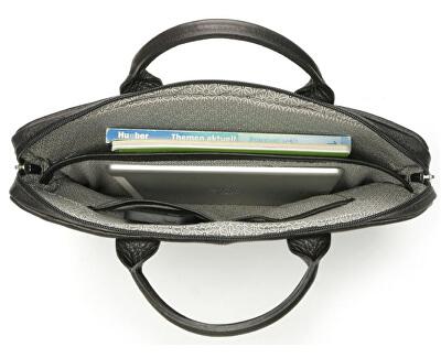 Pánska kožená taška na notebook Calle čierna - s popruhom, Eldorado