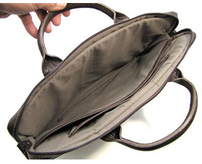 Pánska kožená taška na notebook Calle tmavo hnedý lesk - s popruhom Tender