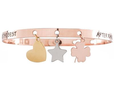 We Positive Kovový náramek Friends Charms FR013 Rose Gold