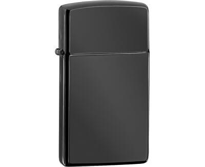 Zippo Benzínový zapalovač Ebony™ Slim® 26586