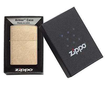 Benzínový zapaľovač Zippo 28496 Armor Tumbled Brass 24180