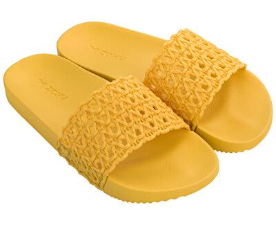 Doamnelor papuci Snap Mesh Slide Fem 17669-90106 Yellow