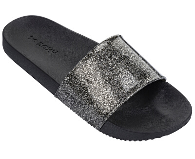 Dámské pantofle Snap Slide Glitter Fem 82440-90288 Glitter Black