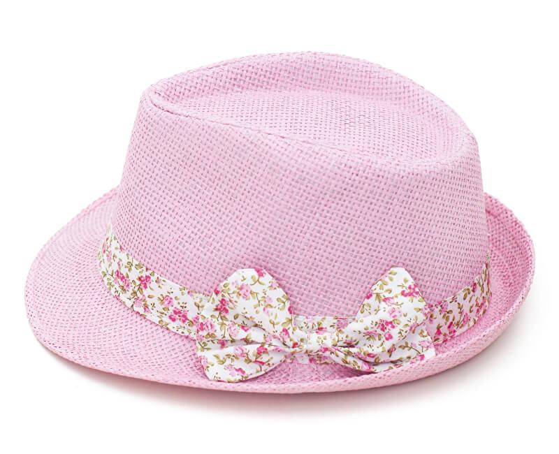 ab9fb19f2 Art of Polo Dámsky letné klobúk s mašľou-ružovobiely cz15161.7 ...