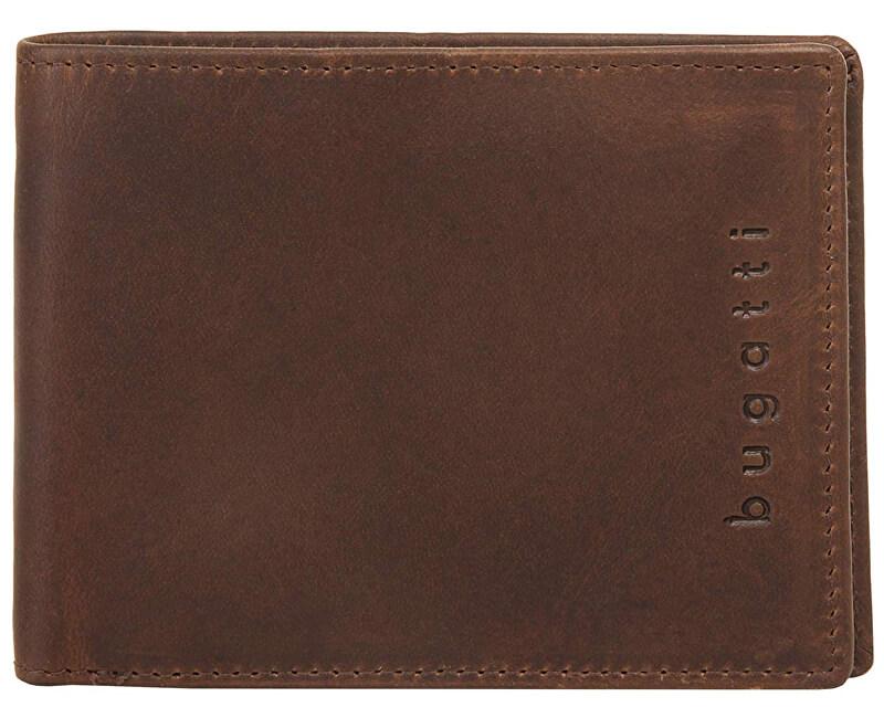 Bugatti Portofel din piele pentru bărbați Romano 49399402 Brown