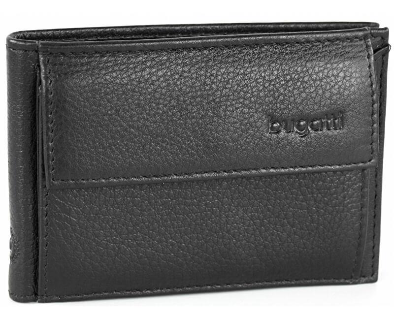 Bugatti Portofel din piele pentru bărbați Sempre 49118001 Black