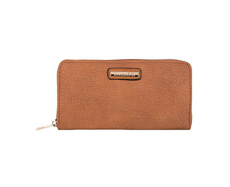 Bulaggi Elegantní peněženka Pellon Wallet Zip Around Cognac 10421-25