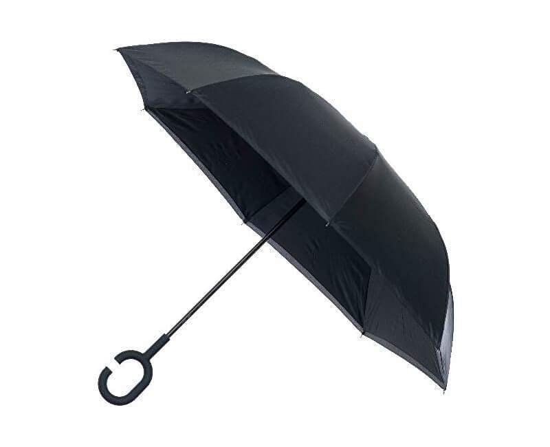 Blooming Brollies Dámský deštník Inside out Plain Black Umbrella EDIOBB