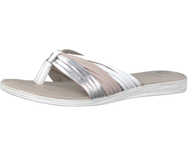 BE NATURAL by Jana Dámské pantofle 8-8-27141-20-913 Silver Comb.