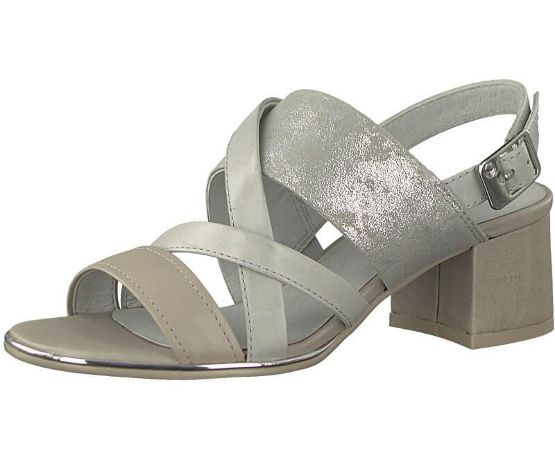 BE NATURAL by Jana Dámské sandále 8-8-28240-20-349 Taupe Comb.