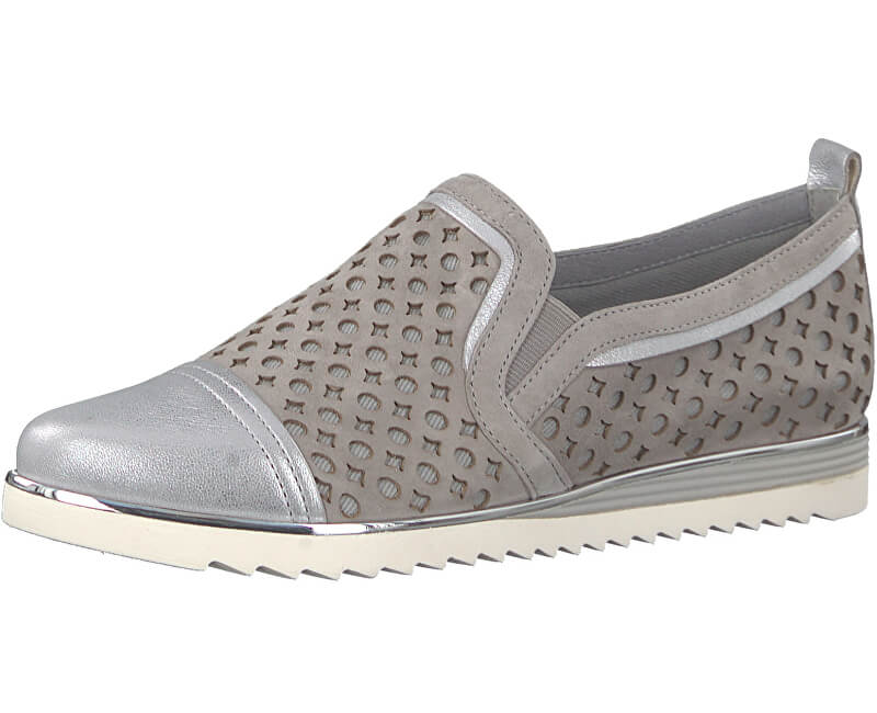BE NATURAL by Jana Dámské Slip-on 8-8-24740-20-204 Lt. Grey