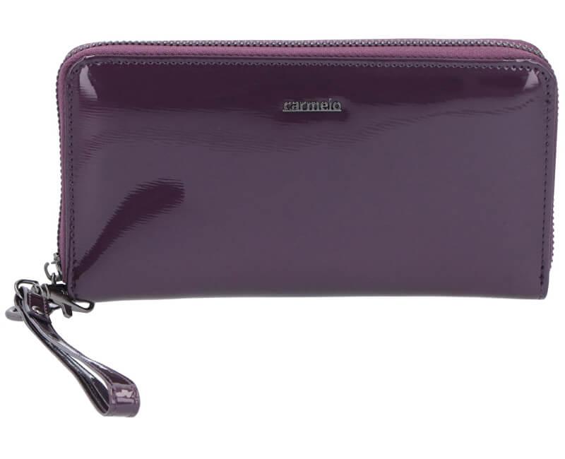 Carmelo Dámska kožená peňaženka 2102G Fialová