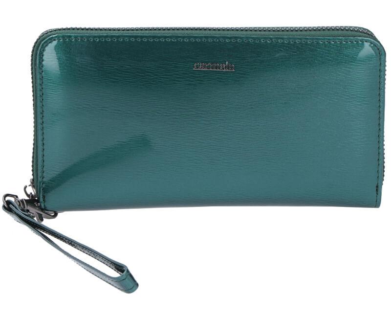 Carmelo Dámska kožená peňaženka 2102G Zelená