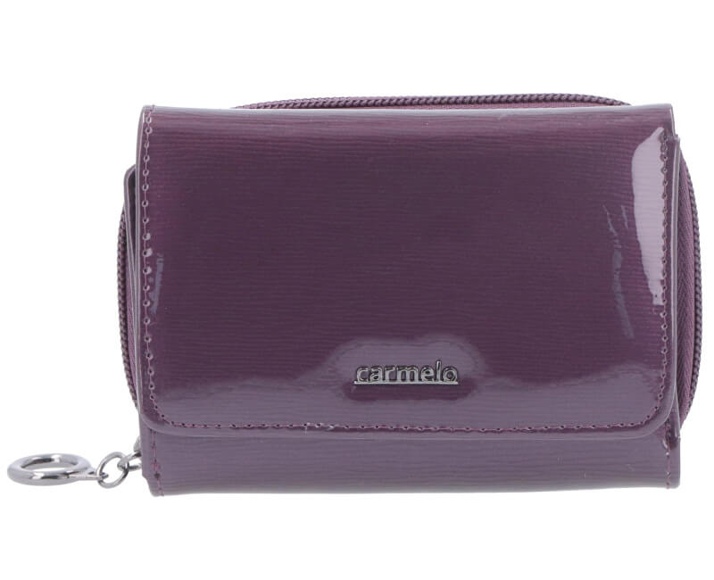 Carmelo Dámska kožená peňaženka 2105G Fialová