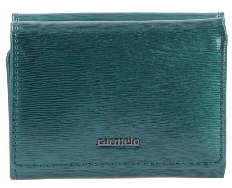 Carmelo Dámska kožená peňaženka 2106G Zelená