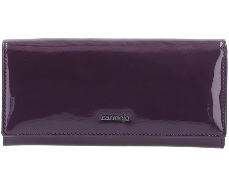 Carmelo Dámska kožená peňaženka 2110G Fialová
