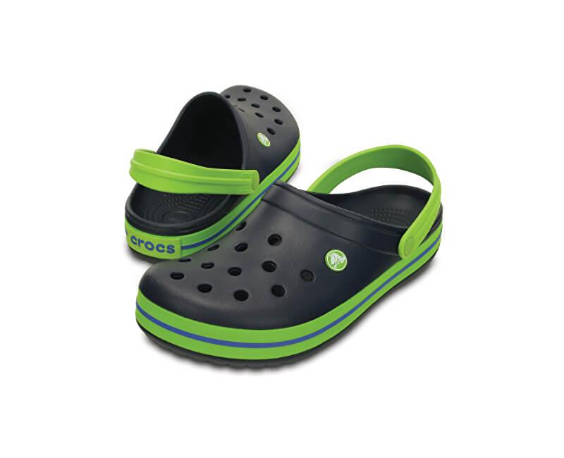 Crocs Dětské pantofle Crocband Clog Navy/Volt Green 204537-4K6
