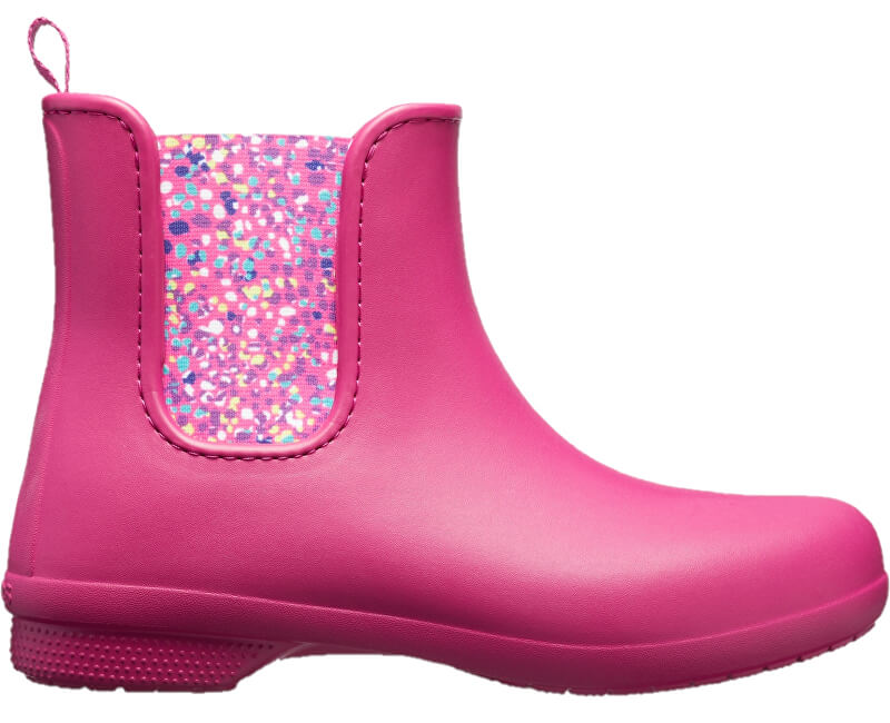 4b8ad469a96e2 Crocs Dámske gumáky Crocs Freesail Chelsea Boot Berry/Dots 204630-6PC ...