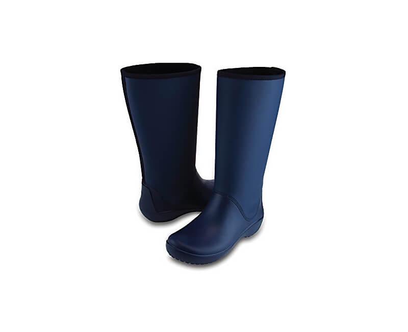 3dffb04753 Crocs Női RainFloe kék csizma Tall boot Navy 203416-410 | Vivantis ...
