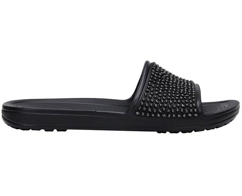 429abbfdd3ebb Crocs Dámske šľapky Sloane Embellished Slide Black/Black 204691-060 ...