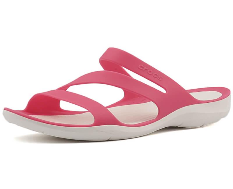 4f43e0a9890ca Crocs Dámske šľapky Swiftwater Sandal Paradise Pink/White 203998-6NR ...
