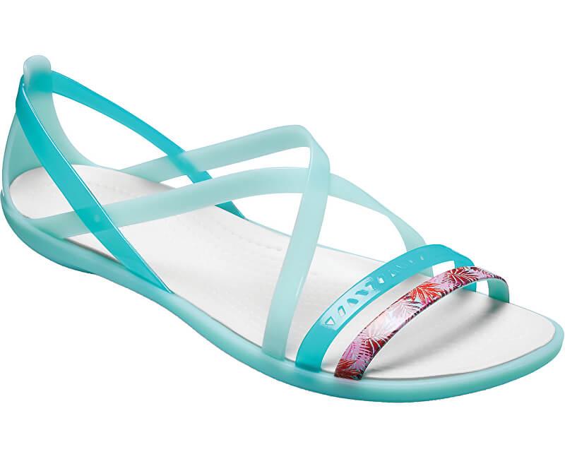 a37cf94e9c48c Crocs Dámské sandále Isabella Cut Grph Strappy Sndl New Mint/Oyster  205150-35I