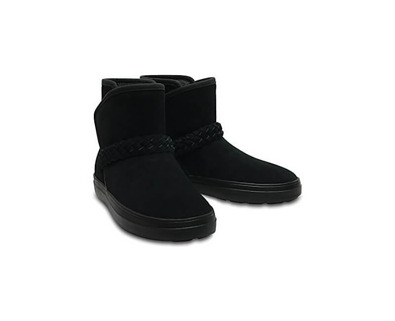 Crocs Dámské zimní boty LodgePoint Suede Bootie W Black 204798-001