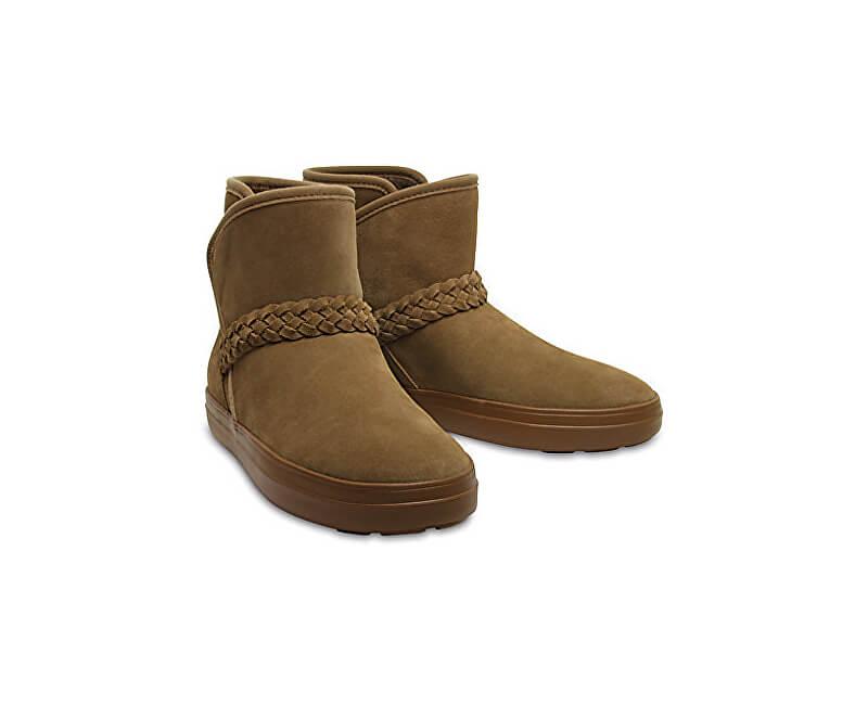 Crocs Dámské zimní boty LodgePoint Suede Bootie W Hazelnut 204798-28G