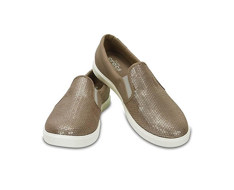 Crocs CitiLane Sequin Slip-on adidasi de Gold pentru femei 204285-710