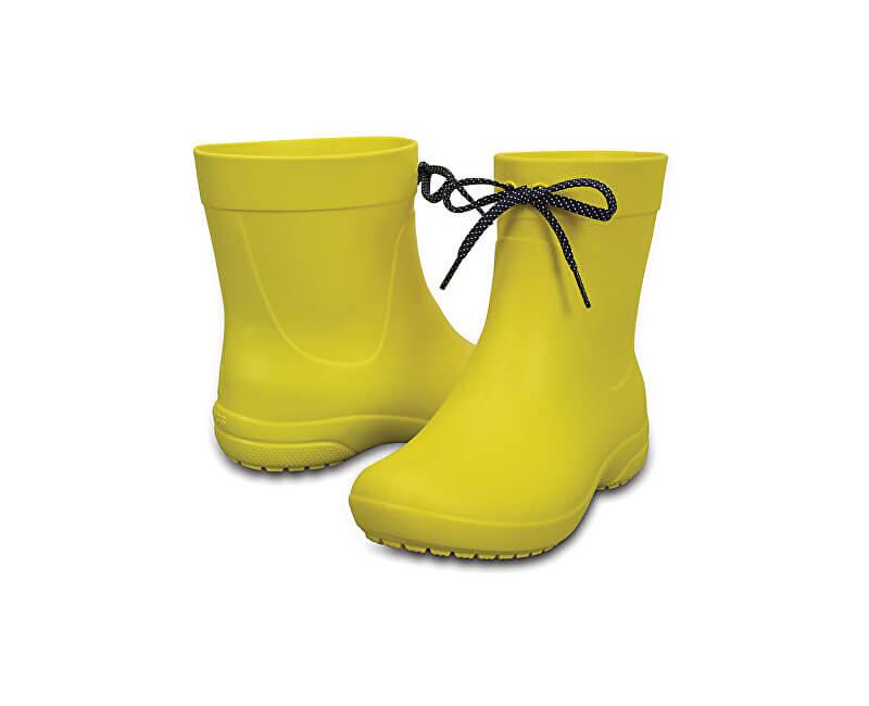 Crocs CizmeCrocs Freesail Shorty RainBoot Lemon 203851-7C1 pentru femei