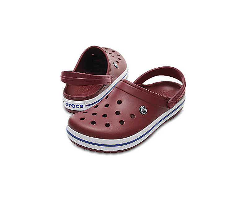 Crocs Pantofle Crocband Garnet/White 11016-6MS