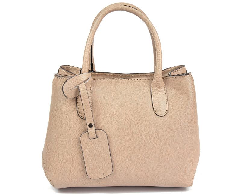 Carla Ferreri Elegantní kožená kabelka 4010 Rosa