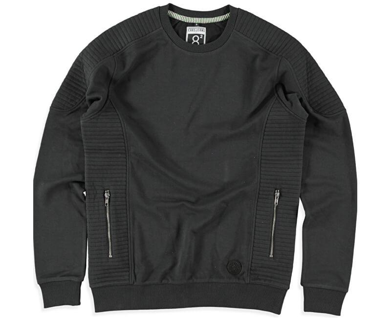 Cars Jeans Pánská černá mikina Pollux Black 4602601