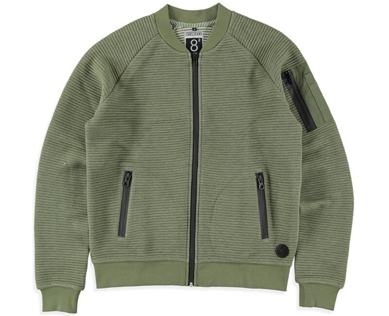 Cars Jeans Pánská zelená mikina Ivan Army 4382619