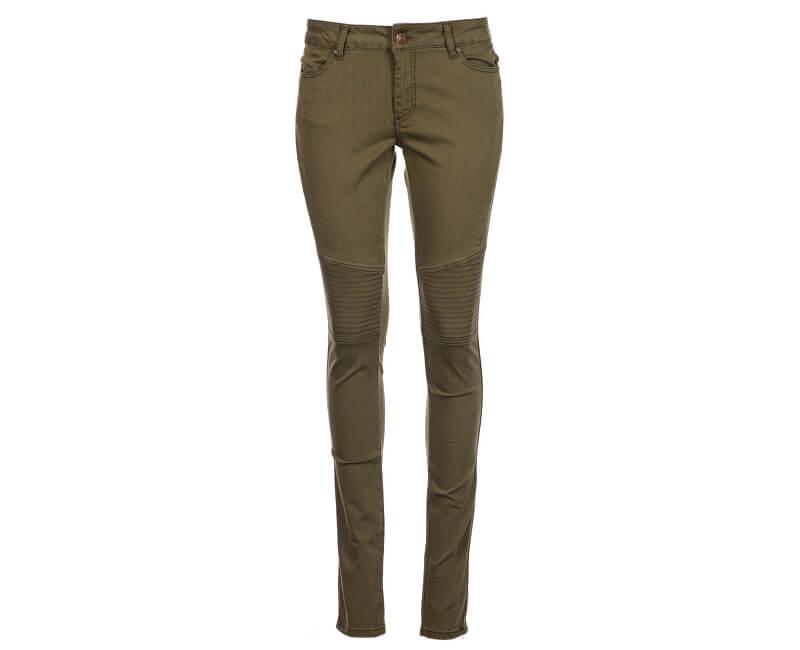 dc2b1cd83d Cars Jeans Dámske zelené nohavice motorkárske Morgan Army 9883119.33 ...