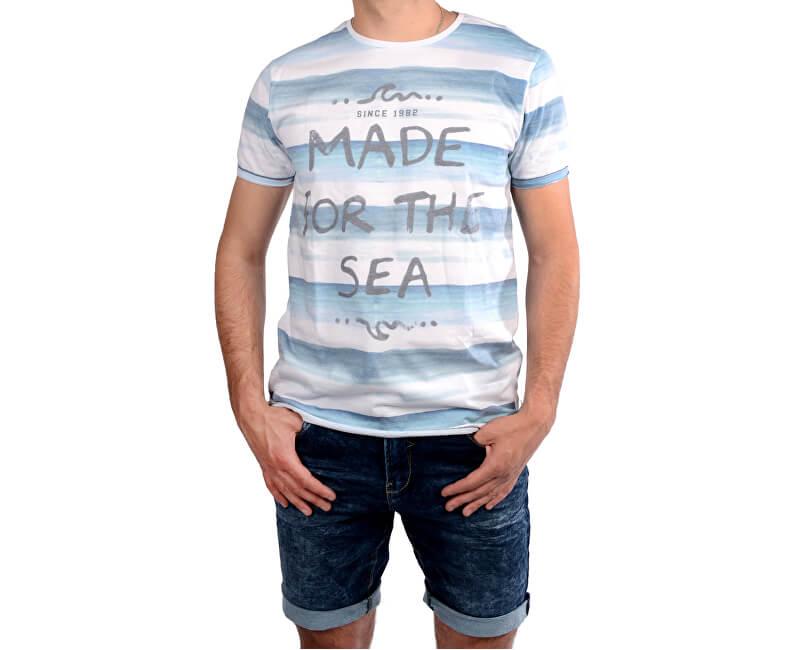 Cars Jeans Tricou alb imprimatpentru bărbați Salty White 4046723
