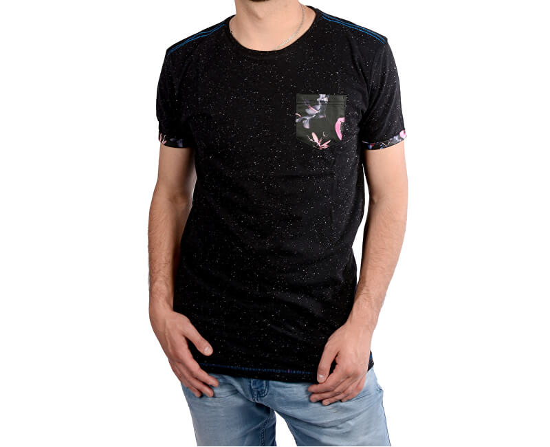 a89ae29133 Cars Jeans Pánske čierne tričko s potlačou Colon Antra 4088217 ...