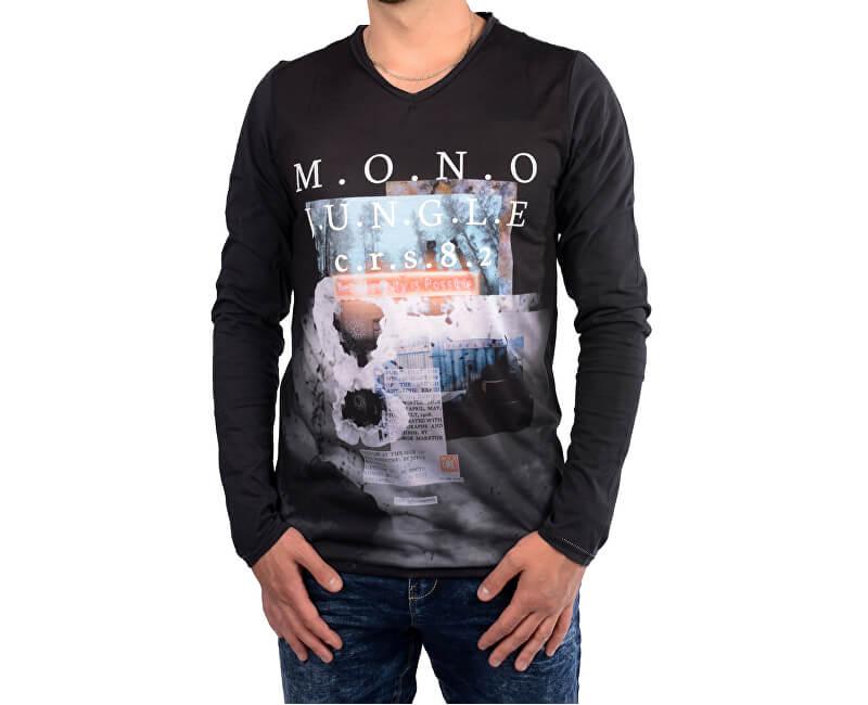 c98ab282e9 Cars Jeans Pánske čierne tričko s potlačou Porzo Black 4597201 Výpredaj