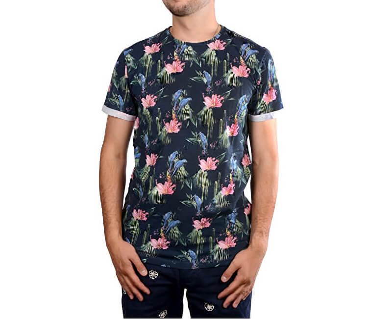 Cars Jeans Pentru bărbați tricou albastru imprimat cu Cocos Navy 4276712