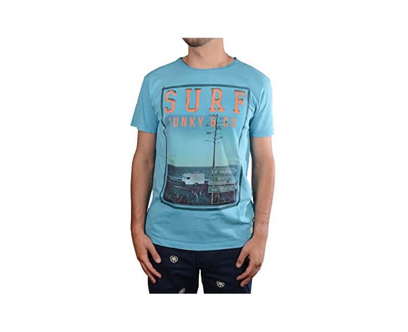 Cars Jeans Pentru bărbați tricou albastru imprimat cu Django Skyblue 4208248