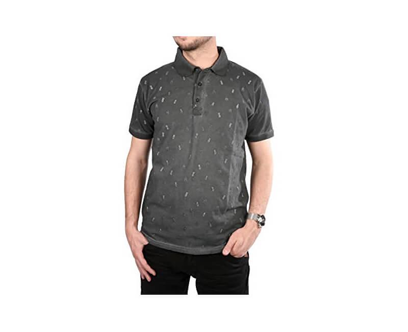 Cars Jeans Tricou gri imprimat pentru bărbați Lucio Antra 4245717