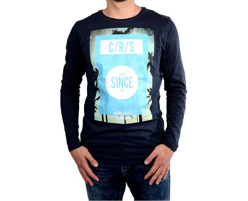 8301e48dabbb Cars Jeans Pánske tmavo modré tričko s potlačou Mojo Navy 4067712 ...